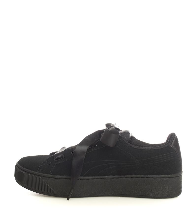 Puma-Zapatillas-de-piel-Vikky-Platform-Ribbon-S-Mujer-chica-Azul-Negro-Plano miniatura 15