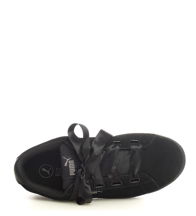 Puma-Zapatillas-de-piel-Vikky-Platform-Ribbon-S-Mujer-chica-Azul-Negro-Plano miniatura 16