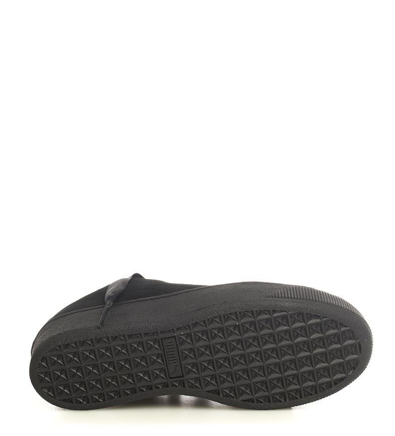 Puma-Zapatillas-de-piel-Vikky-Platform-Ribbon-S-Mujer-chica-Azul-Negro-Plano miniatura 17