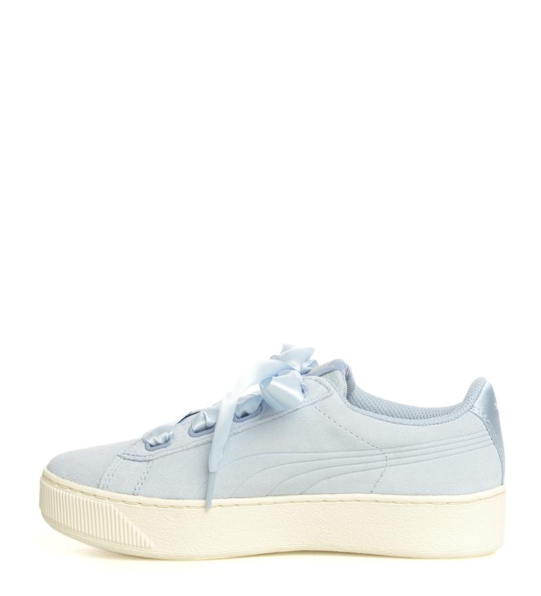 Puma-Zapatillas-de-piel-Vikky-Platform-Ribbon-S-Mujer-chica-Azul-Negro-Plano miniatura 7