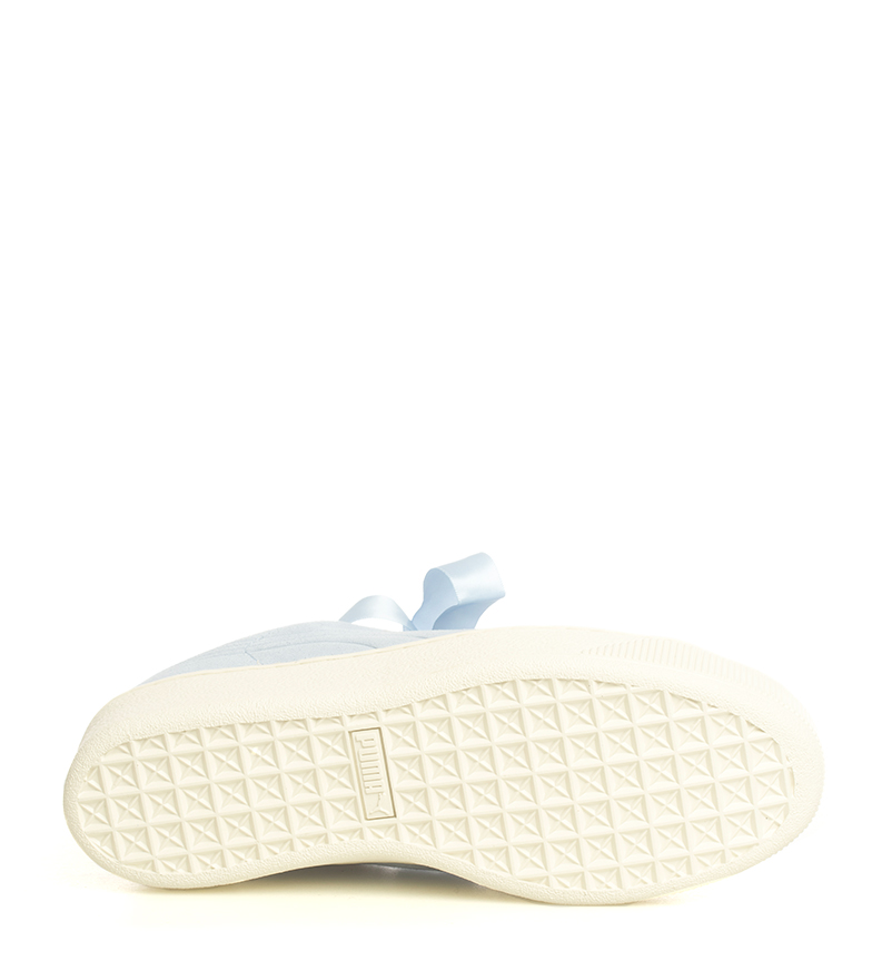 Puma-Zapatillas-de-piel-Vikky-Platform-Ribbon-S-Mujer-chica-Azul-Negro-Plano miniatura 9