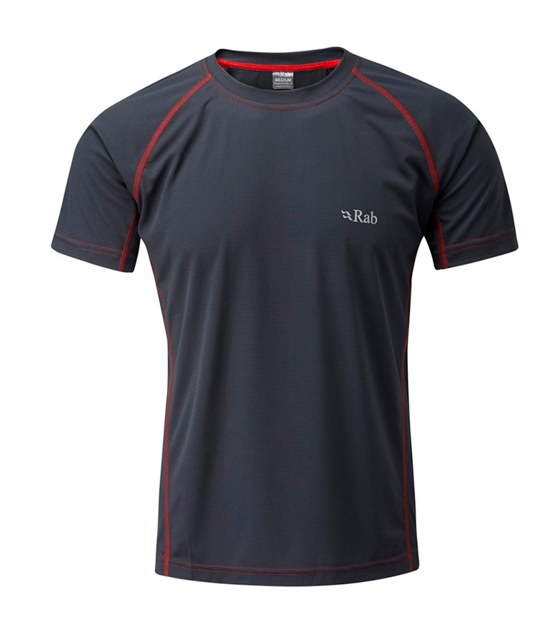 Comprar Rab Camiseta Interval gris / Polygiene / FPS 35