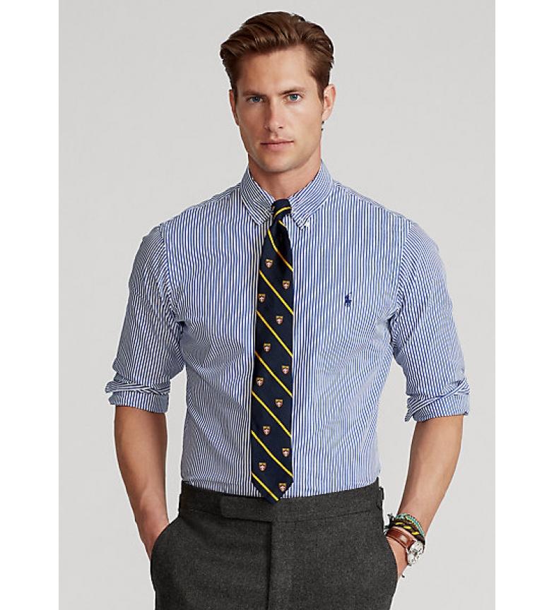 Ralph Lauren Camisa popelín a rayas azul y blanco