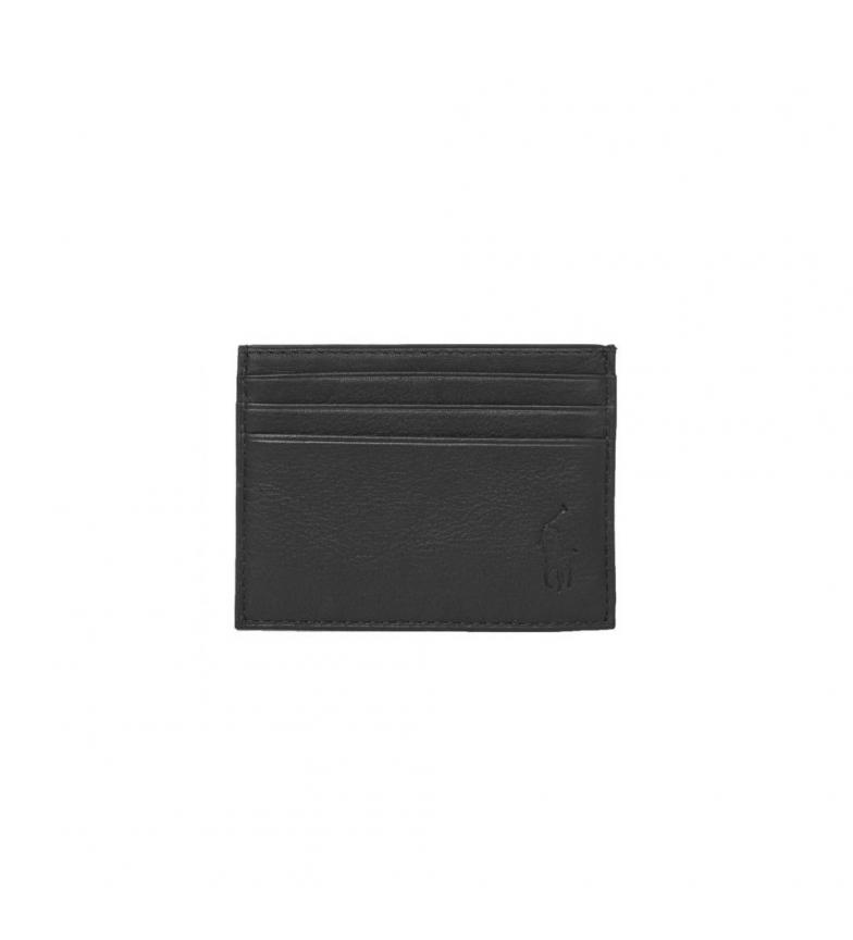 Ralph Lauren Leather wallet Multi CC-Card Case black