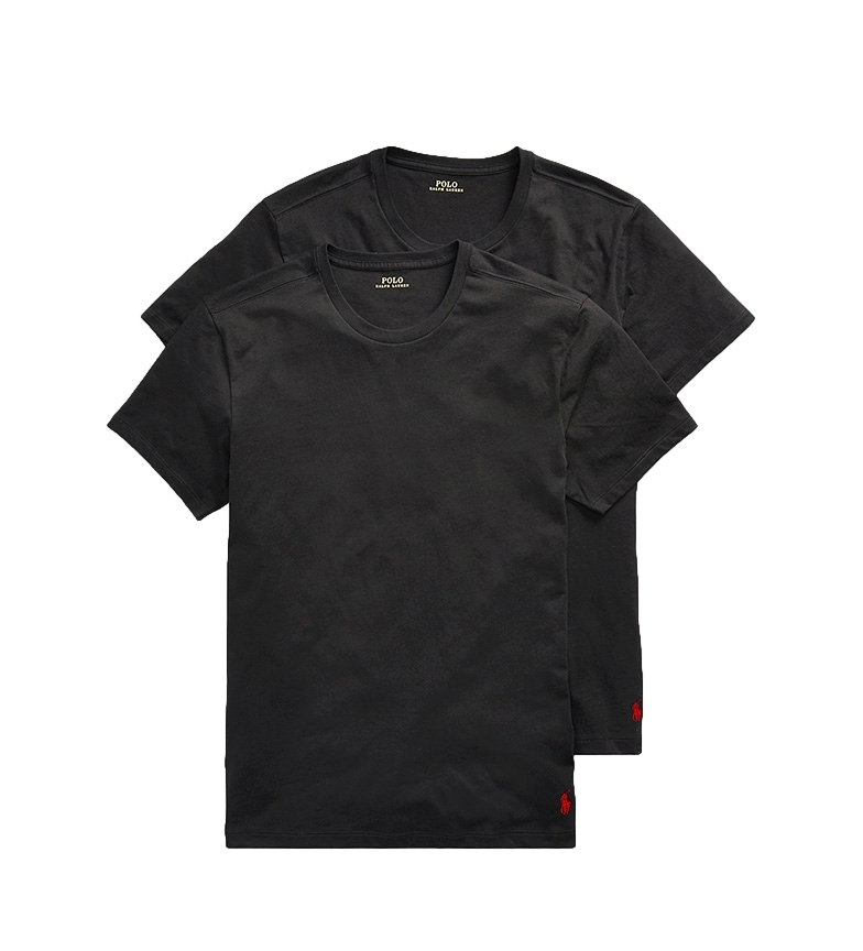 Comprar Ralph Lauren Pack of 2 Classic Crew Undershit black