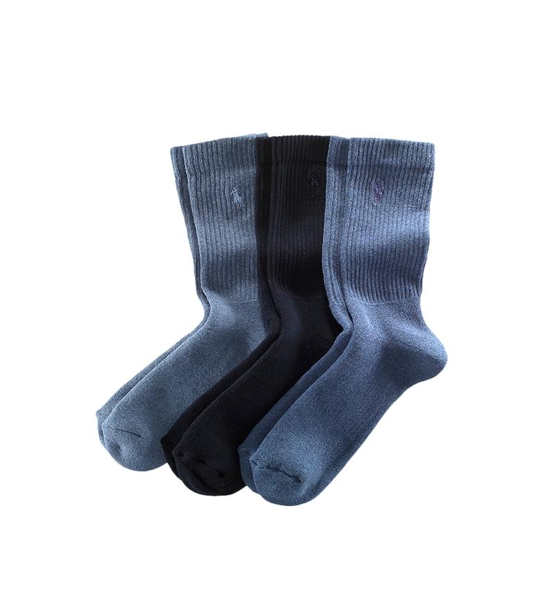 Ralph Lauren 3-pack of Crew Socks navy blue, navy