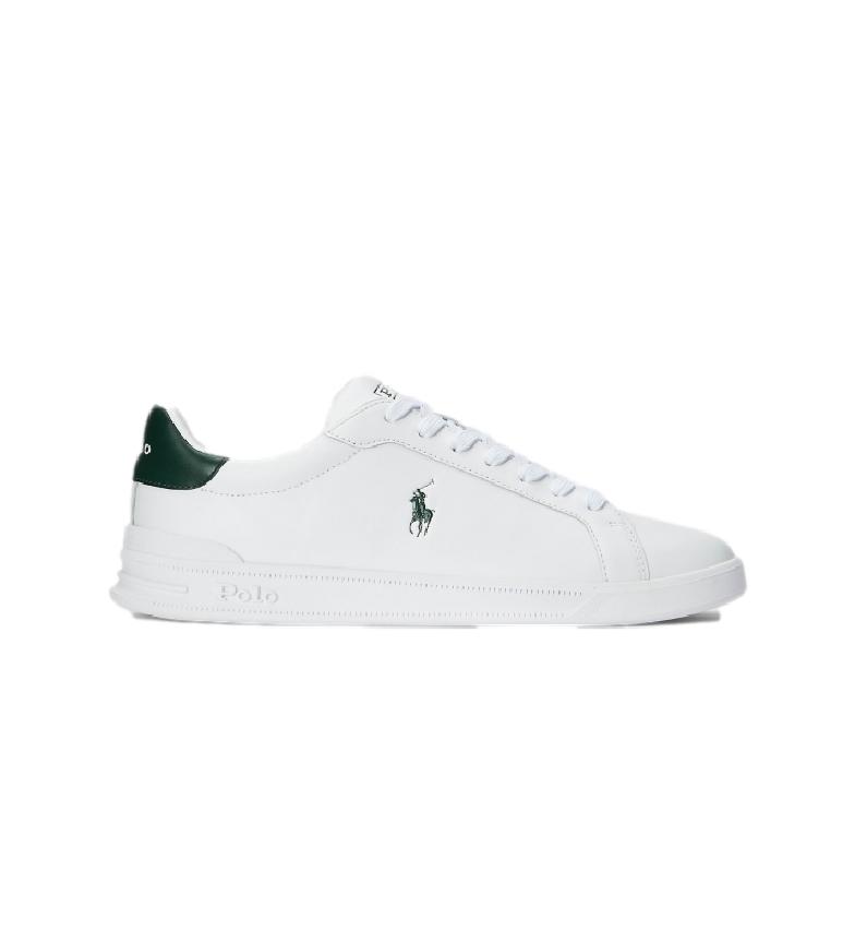 Comprar Ralph Lauren Heritage Court II Tênis de couro branco, verde