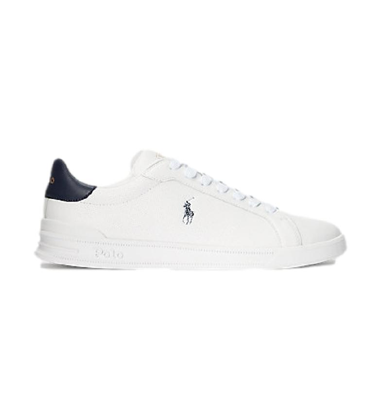 Ralph Lauren Heritage Court II white leather sneakers