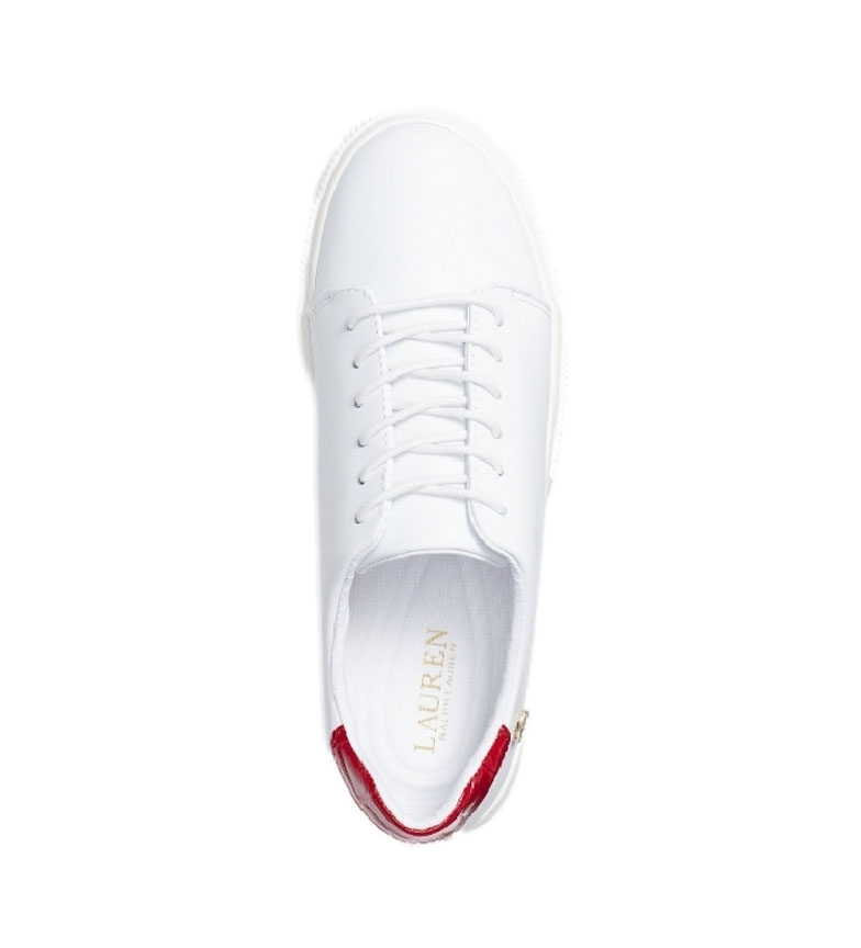 Comprar Ralph Lauren Leather sneakers Joana III white, red
