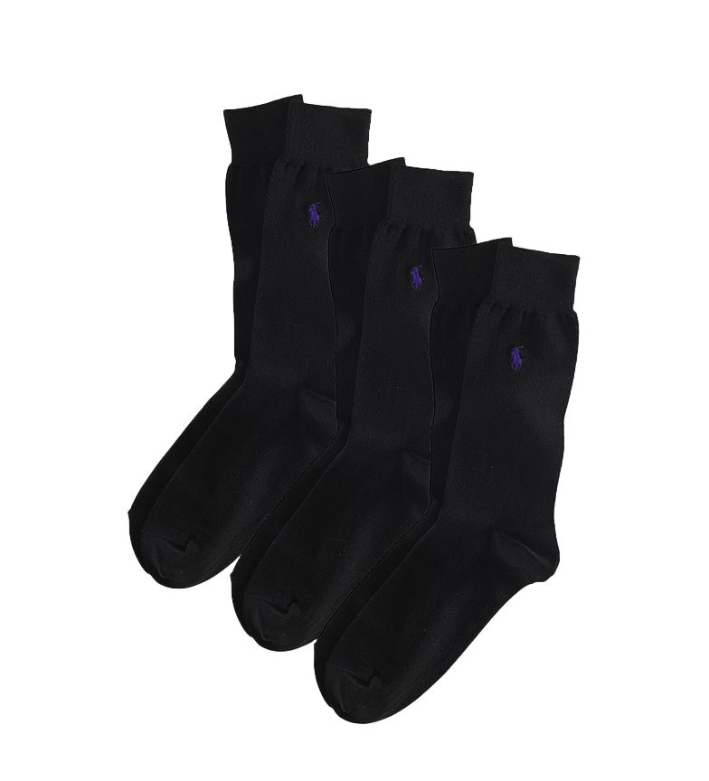 Comprar Ralph Lauren Lot de 3 chaussettes de marine mercerisées