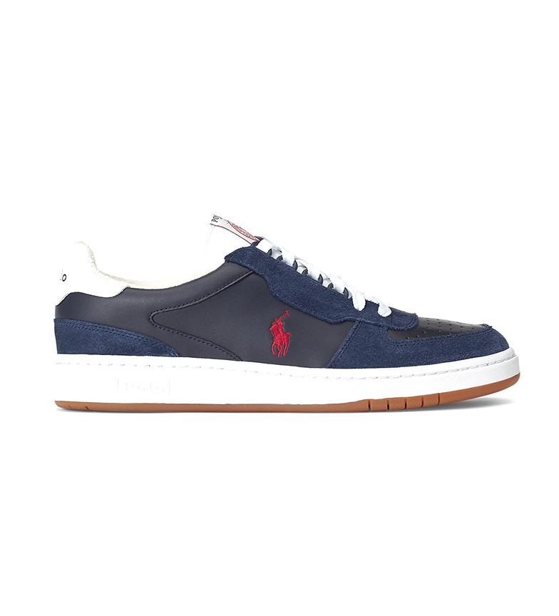 Ralph Lauren Sneakers Court in pelle blu navy