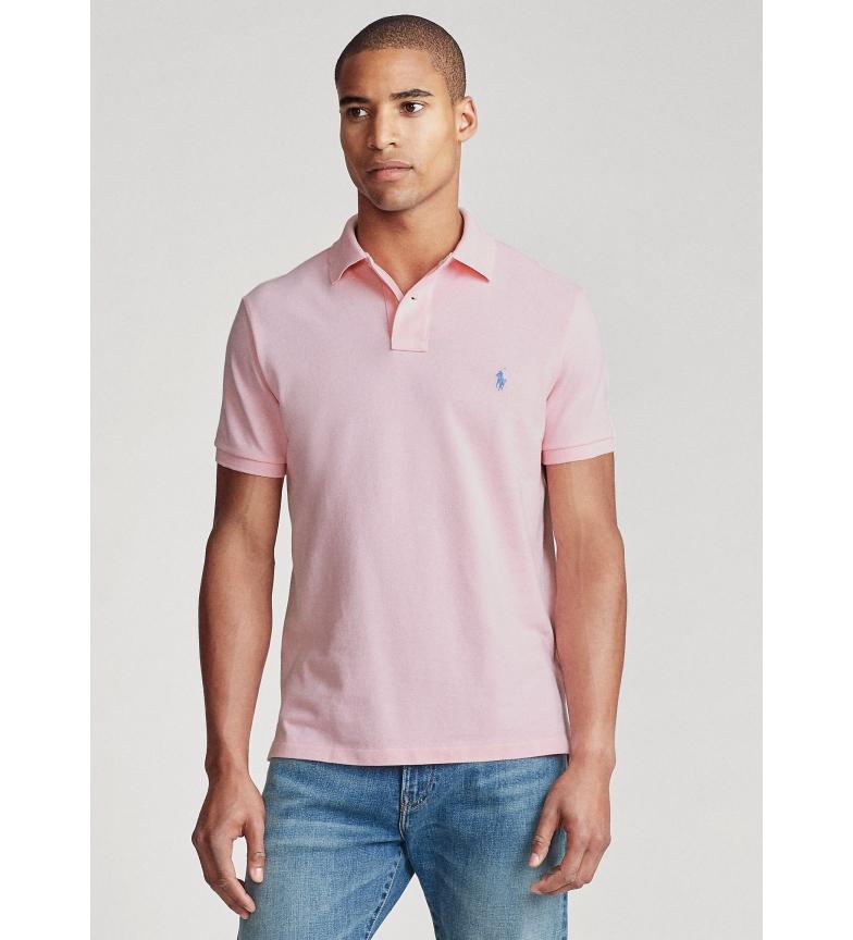 Ralph Lauren Custom Slim Fit piquet polo shirt blue