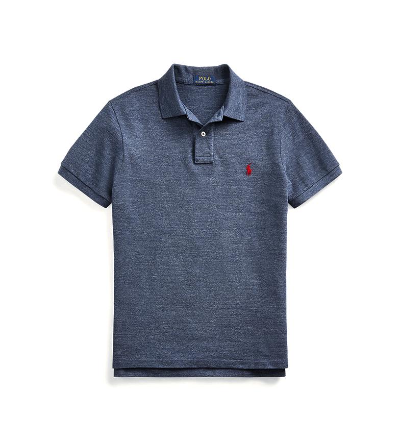 Comprar Ralph Lauren Polo Slim Fit manica corta in maglia blu