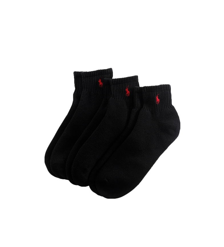 Ralph Lauren Confezione di calze a 3 quarti nere