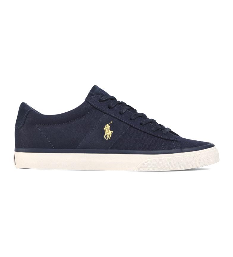 Comprar Ralph Lauren Sneaker Sayer in tela blu navy