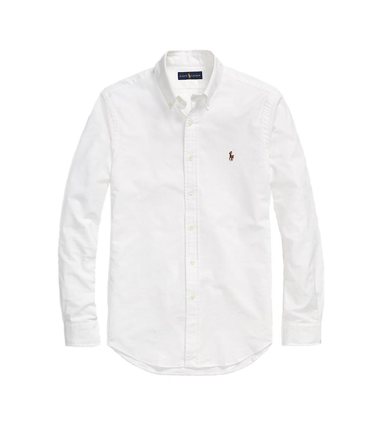 Ralph Lauren Camisa Oxford Slim Fit blanco