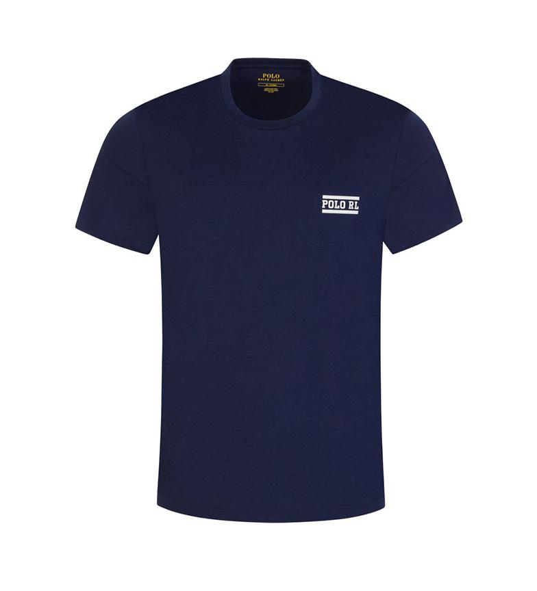 Comprar Ralph Lauren Camiseta da Marinha de Guerra Redonod Colarinho de Casa