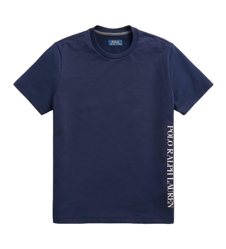 Ralph Lauren T-shirt da notte in maglia con logo marino