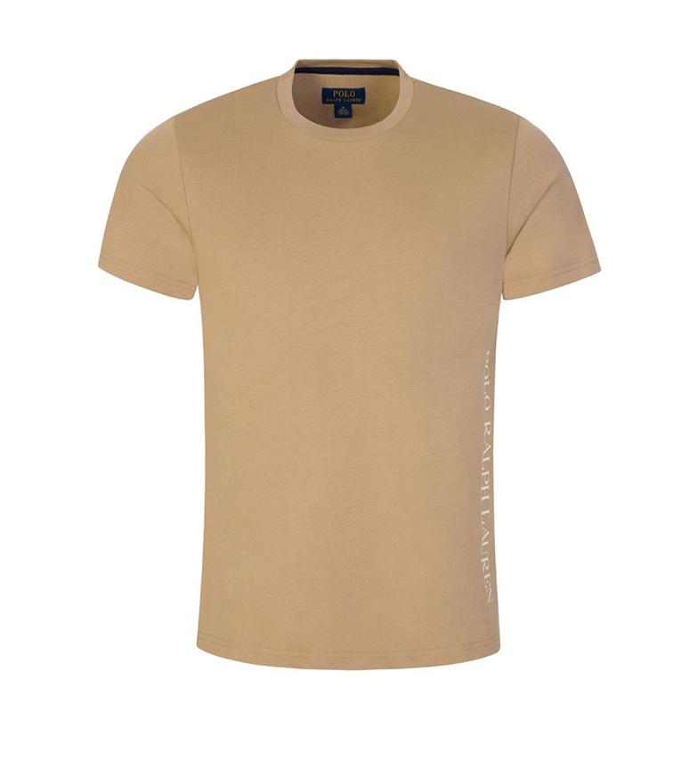 Comprar Ralph Lauren Camiseta de malha com o logotipo Brown Sleep