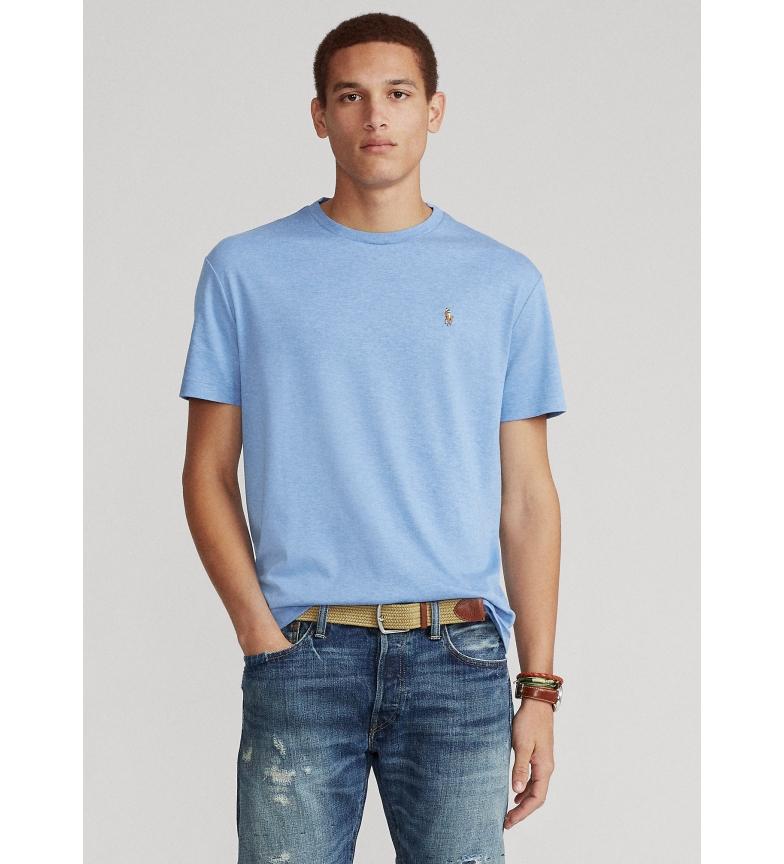 Ralph Lauren T-shirt in cotone slim fit personalizzata SSCNCMSLM1 blu