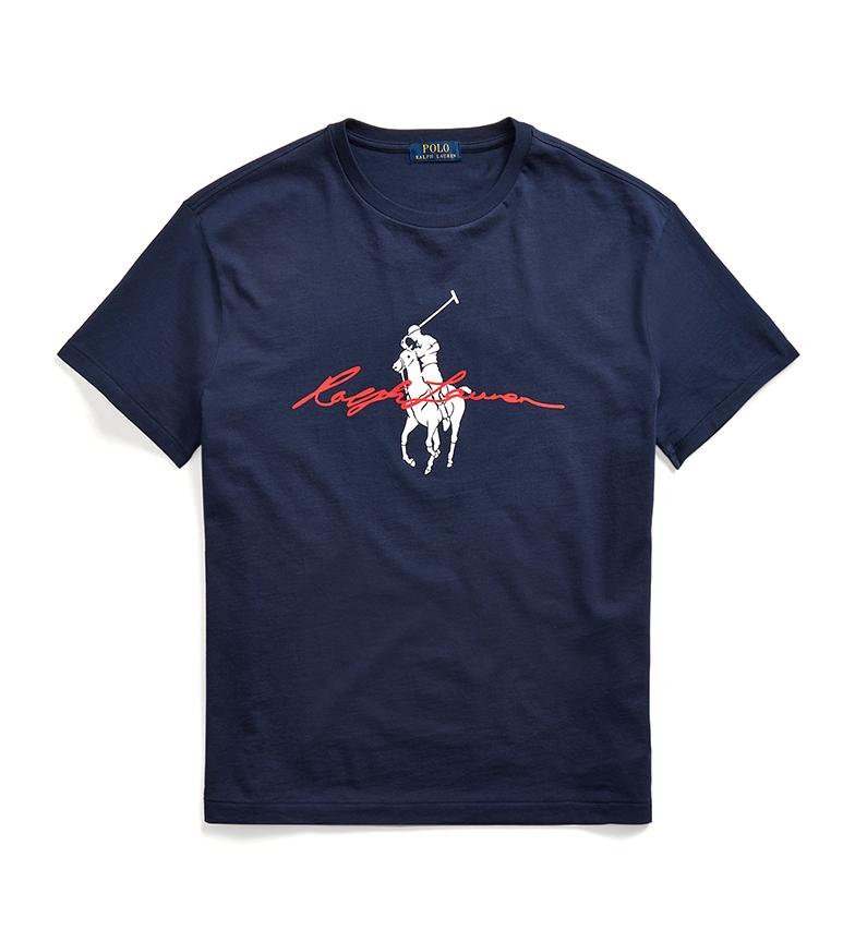 Comprar Ralph Lauren T-shirt slim fit personalizzata con Big Pony navy