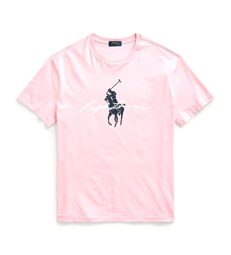 Comprar Ralph Lauren T-shirt personalizzata Slim Fit con Big Pony rosa