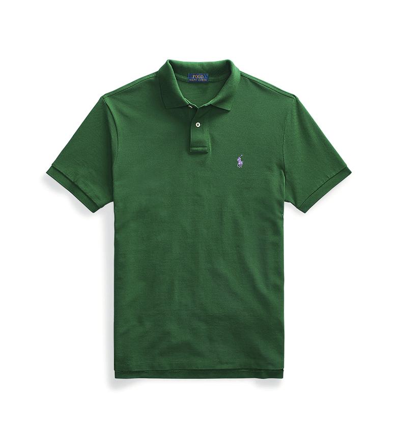 Comprar Ralph Lauren Pólo de Fustão Slim Fit personalizado, verde
