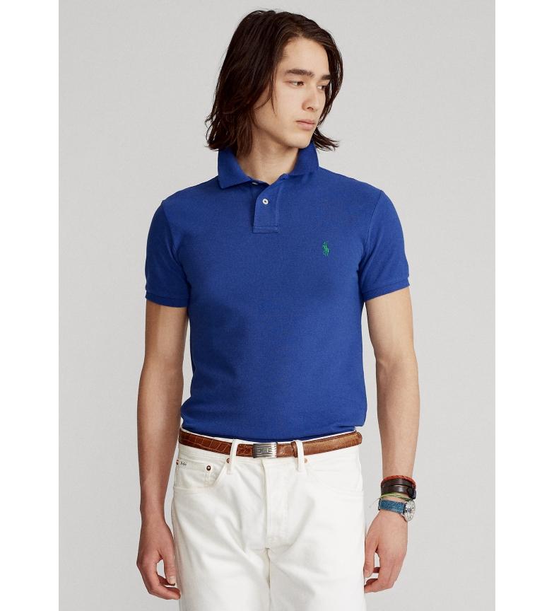 Ralph Lauren Polo slim fit in piqué SSKCSLM1 blu