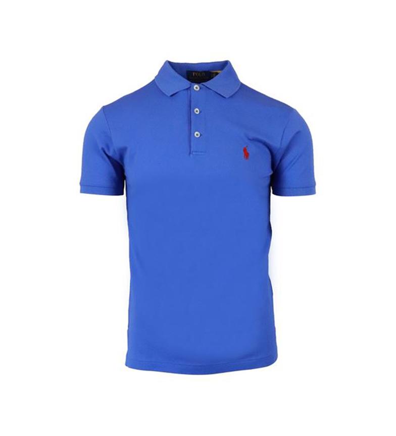 Comprar Ralph Lauren Slim Fit Pique Polo SSKCSLM1 azul claro