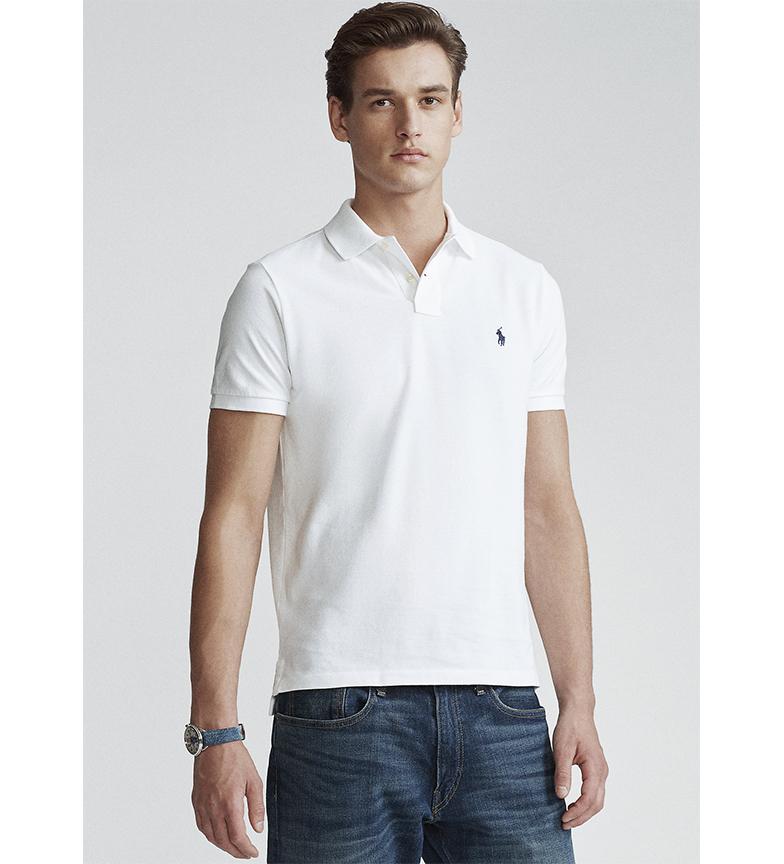 Comprar Ralph Lauren Custom Slim Fit white pique polo shirt