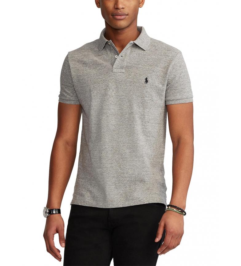 Ralph Lauren Camisa Polo Slim Fit personalizada cinzenta