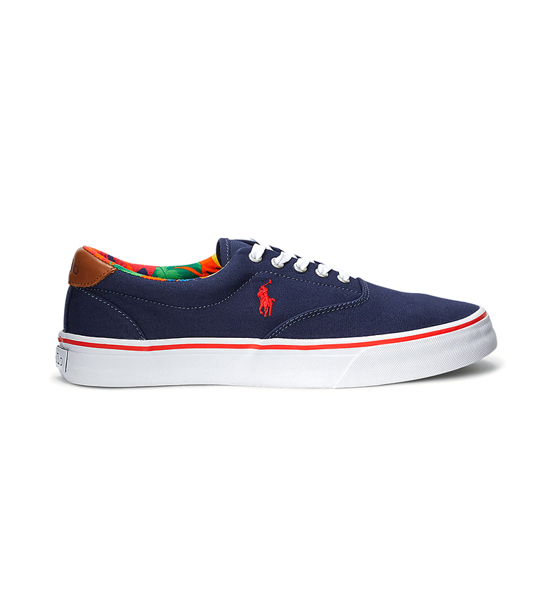 Ralph Lauren Sneakers Thorton in tela blu scuro