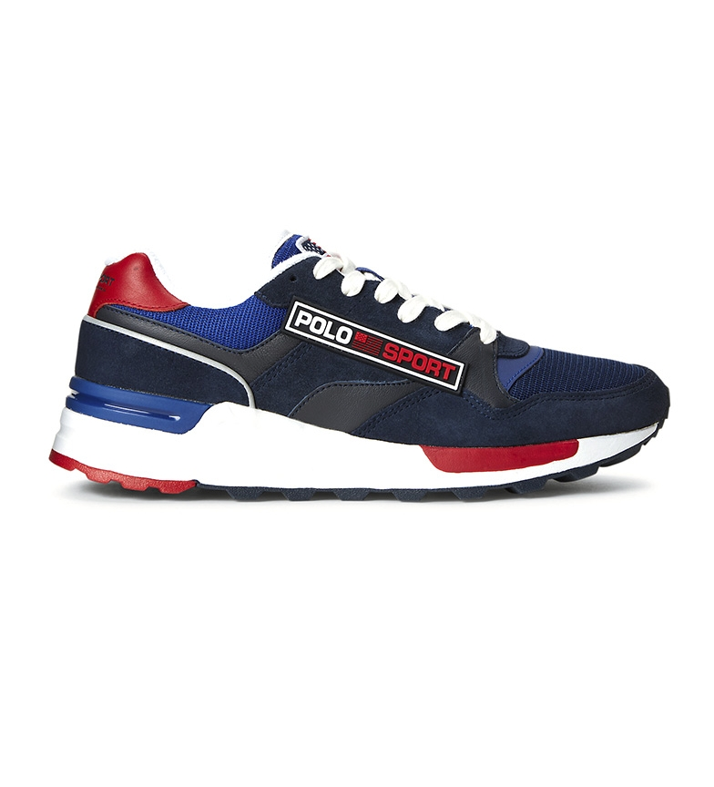 Ralph Lauren Sneaker in pelle Trackster blu scuro