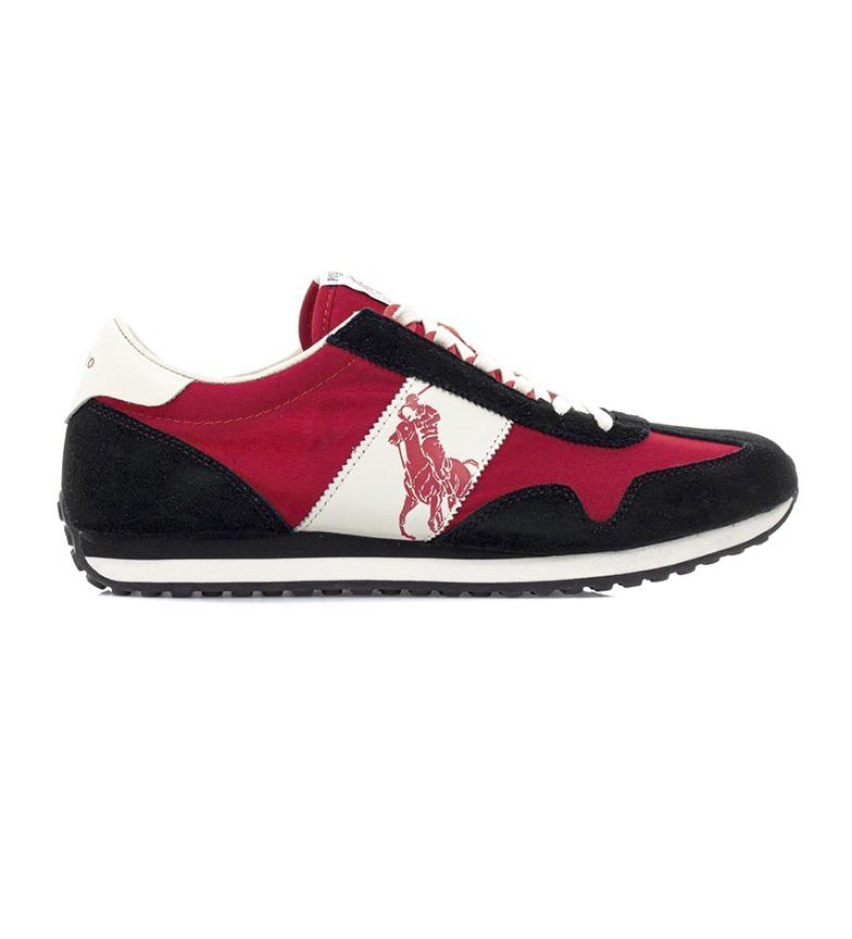 Ralph Lauren Sneakers Train 90 in pelle rossa