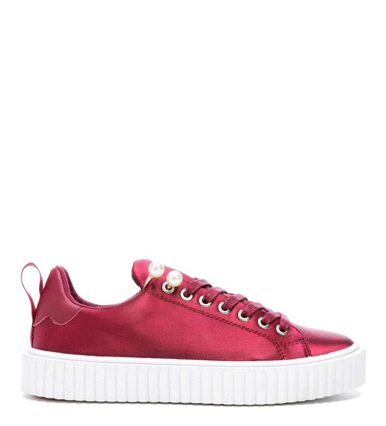 Comprar rebèlle lovers Dasy burgundy satin sneakers