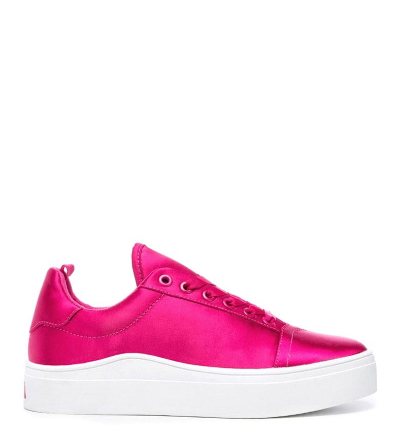 Comprar rebèlle lovers Wave Fuchsia sneakers in raso fucsia ondulato