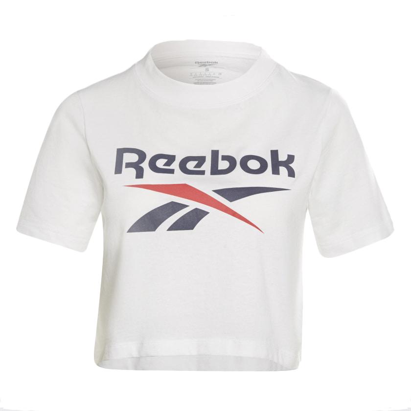 Comprar Reebok Camiseta Cropped Reebok Identity blanco