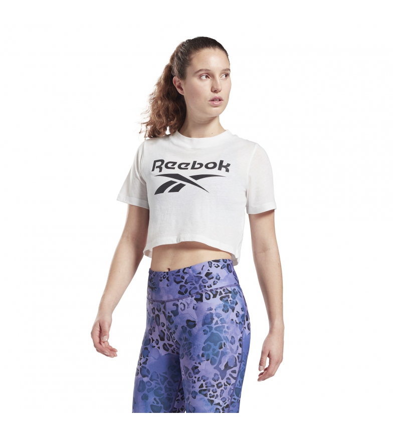 Comprar Reebok Camiseta Identity Cropped blanco