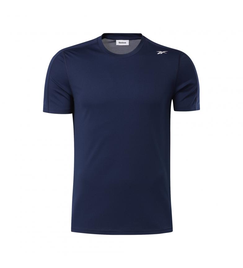 Comprar Reebok T-shirt in poliestere tecnico blu navy pronto per l'allenamento