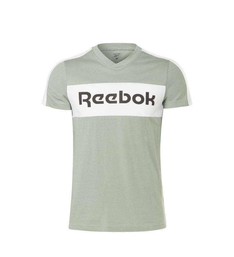 Comprar Reebok T-shirt verde con grafica con logo lineare di Training Essentials