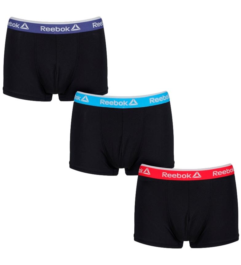 Comprar Reebok Confezione da 3 boxer Millar neri