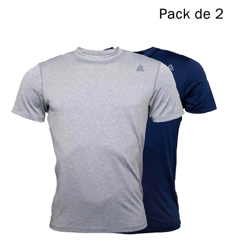 Comprar Reebok Pack of 2 Simon gray marbled t-shirts, marine