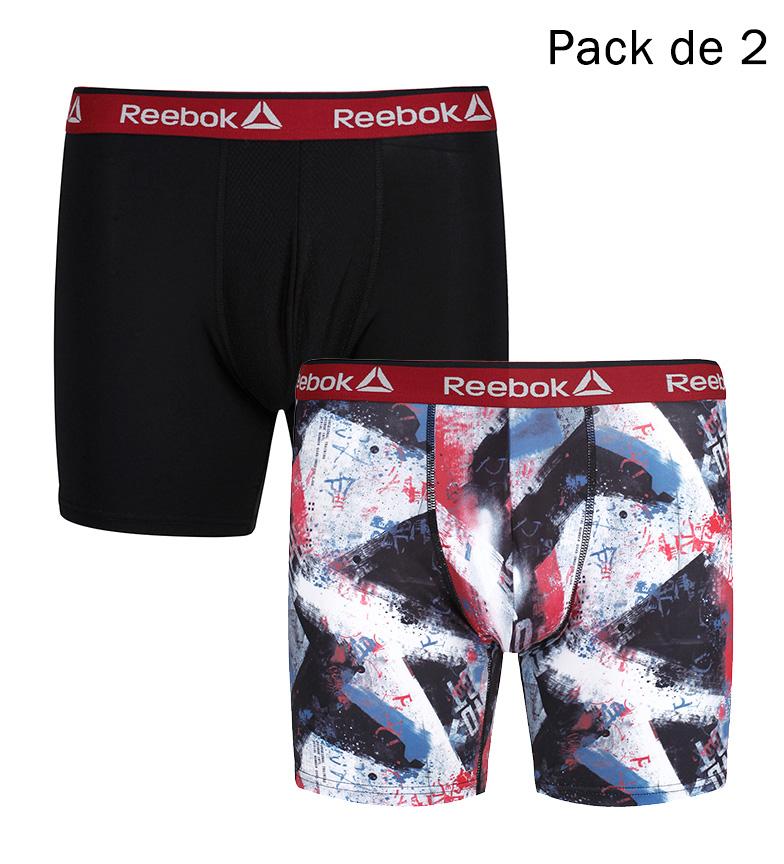 Comprar Reebok Pack of 2 Charlie Black Boxers, printed