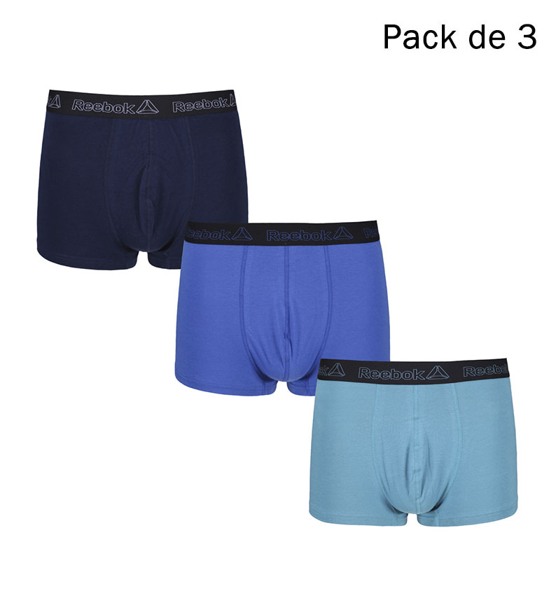 Comprar Reebok Confezione da 3 Boxer Varian blu