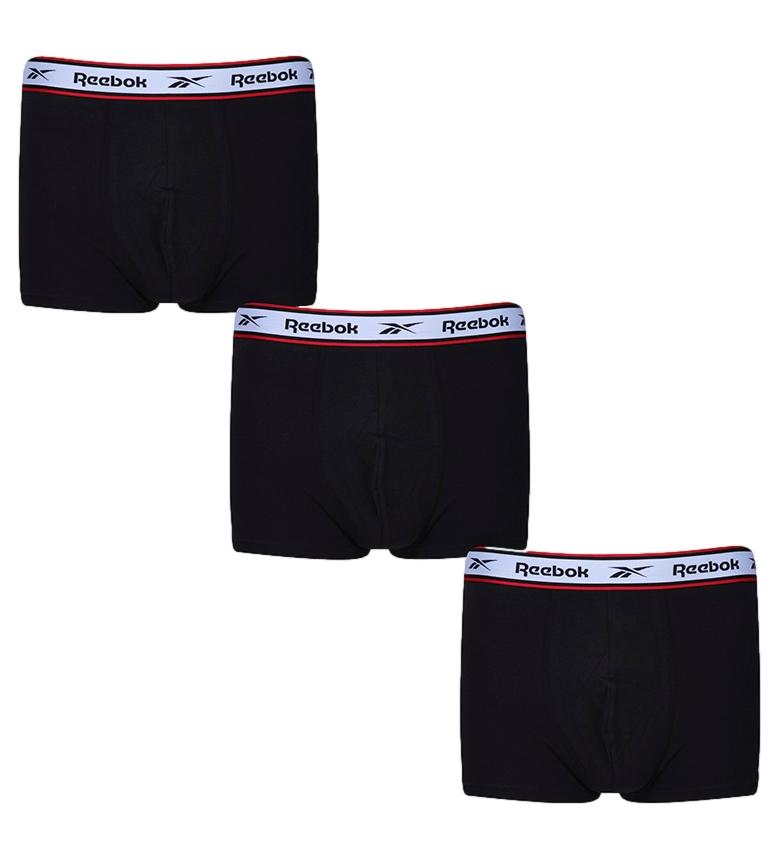 Reebok Embalagem de 3 boxers Barlow pretos