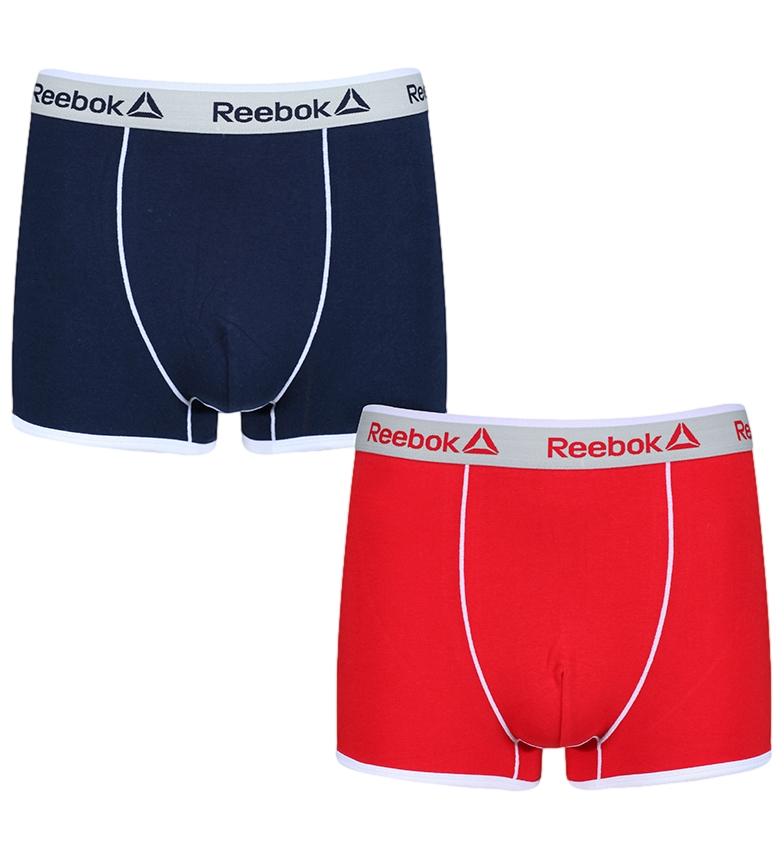 Comprar Reebok Confezione da 2 Boxer Oliver marine, rosso