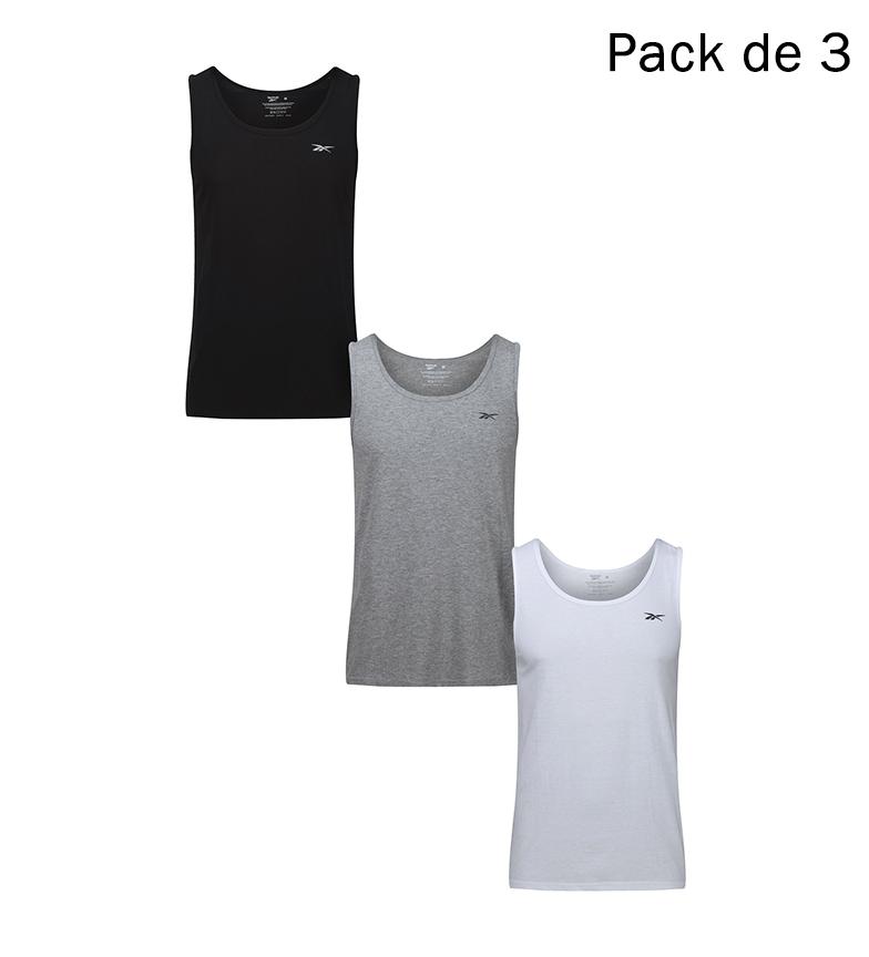 Comprar Reebok Pack of 3 Vince shirts black, white, grey