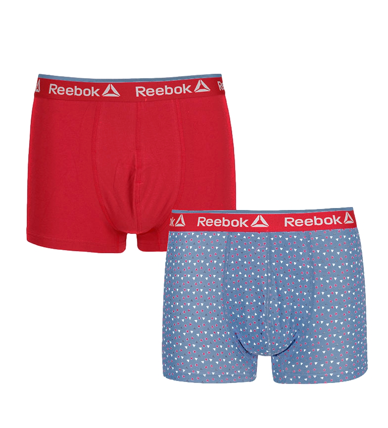 Comprar Reebok Confezione da 2 boxer Dylan rossi, blu