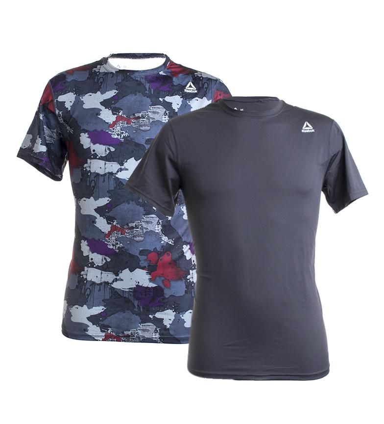 Comprar Reebok Pack de 2 T-shirts Grant cinza, camuflado