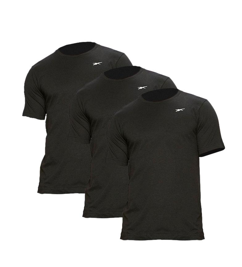 Comprar Reebok Confezione da 3 magliette Santo nere